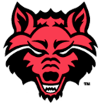 Team arkansas state wolf head logo